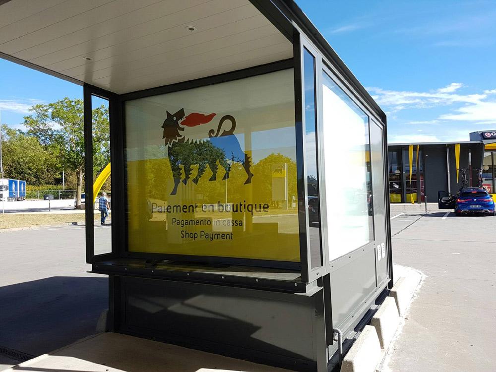 Chantier STATIONS ENI AUTOROUTE Impression numérique sur toile