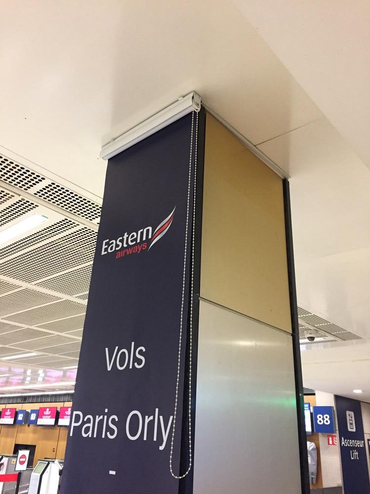 Chantier aéroport Paris CDG impression numérique sur toile